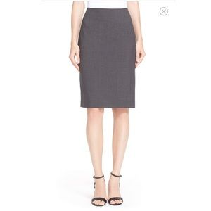 Theory Charcoal Gray Pencil Skirt size 0